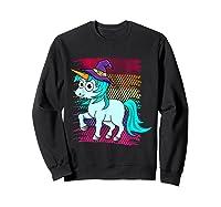 Halloween Unicorn Pride Colors Shirts Sweatshirt Black