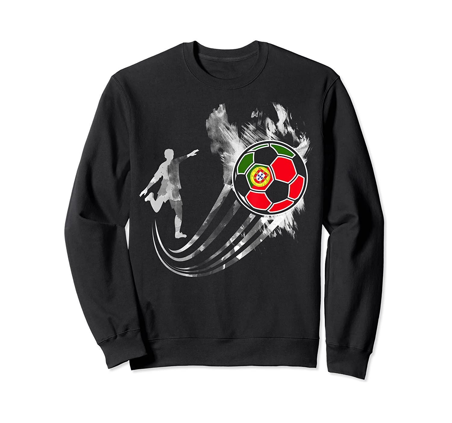 Portugal Soccer Team T-shirt For Fans And Players Crewneck Sweater