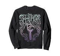 Addams Family Thing Artsy Gradient Sketch Shirts Sweatshirt Black