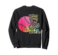 Baseball Funny Gift Team Play Like A Girl Softball Shirts Sweatshirt Black