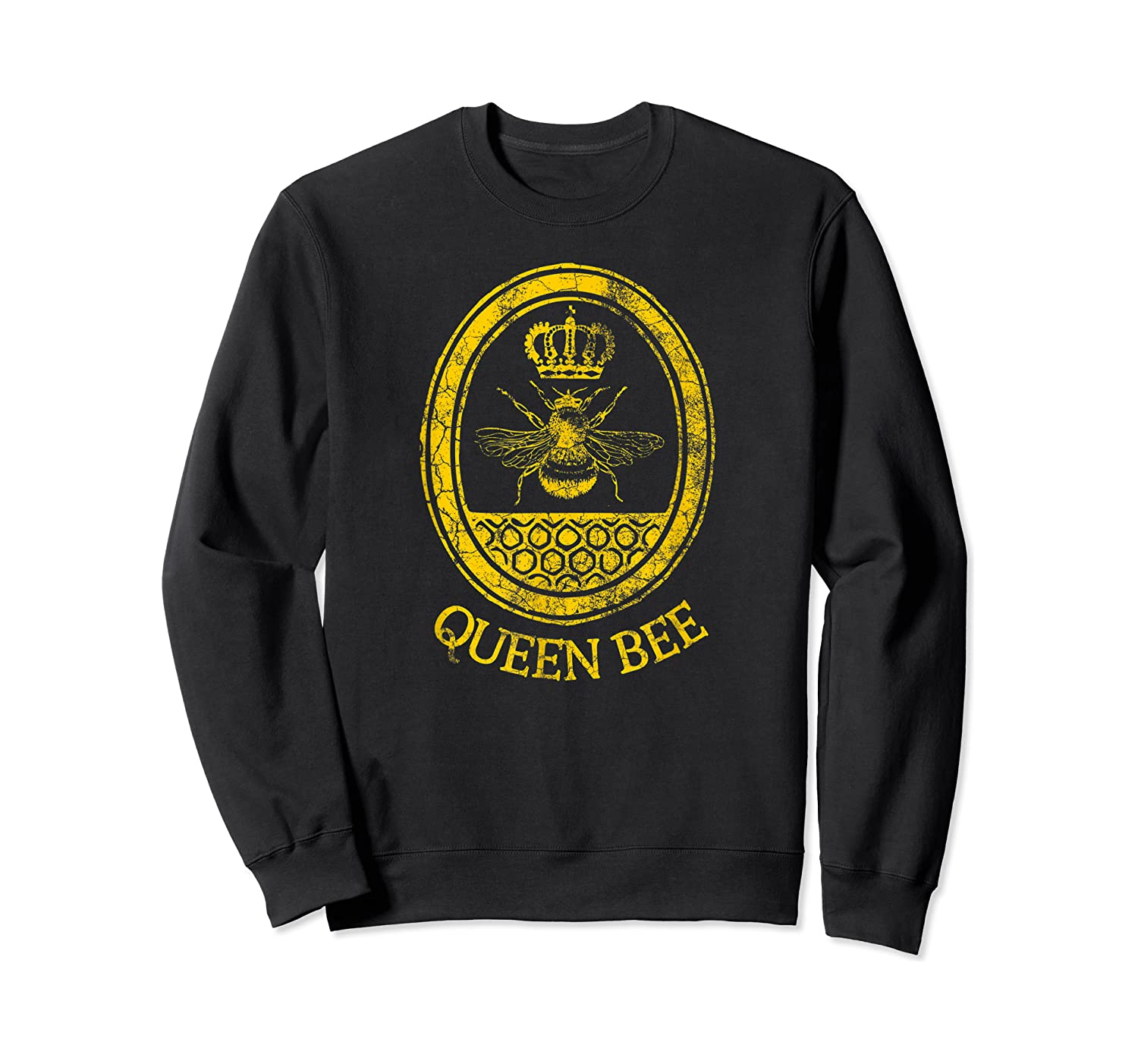 Queen Bee Vintage Beekeeper Mom Mother's Day Wife Gift Shirts Crewneck Sweater