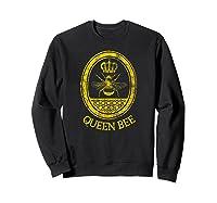 Queen Bee Vintage Beekeeper Mom Mother's Day Wife Gift Shirts Sweatshirt Black