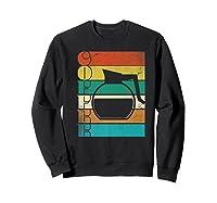 Coffee 70\\\'s Retro Style Distressed Stripes Premium T-shirt Sweatshirt Black