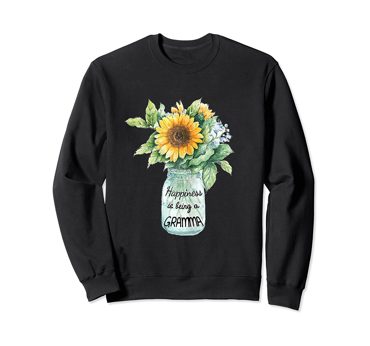 Happiness Is Being A Gramma Gift For Grandma Shirts Crewneck Sweater