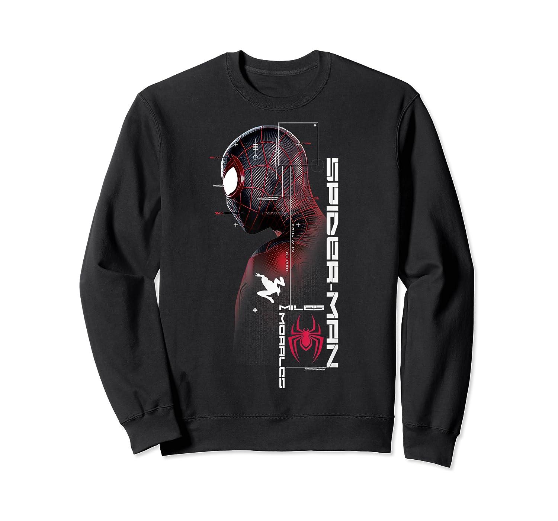Spider Man Miles Morales Specs Shirts Crewneck Sweater