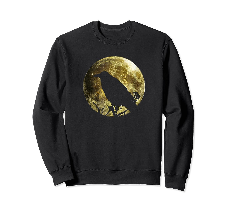 Raven Full Moon Halloween Shirts Crewneck Sweater