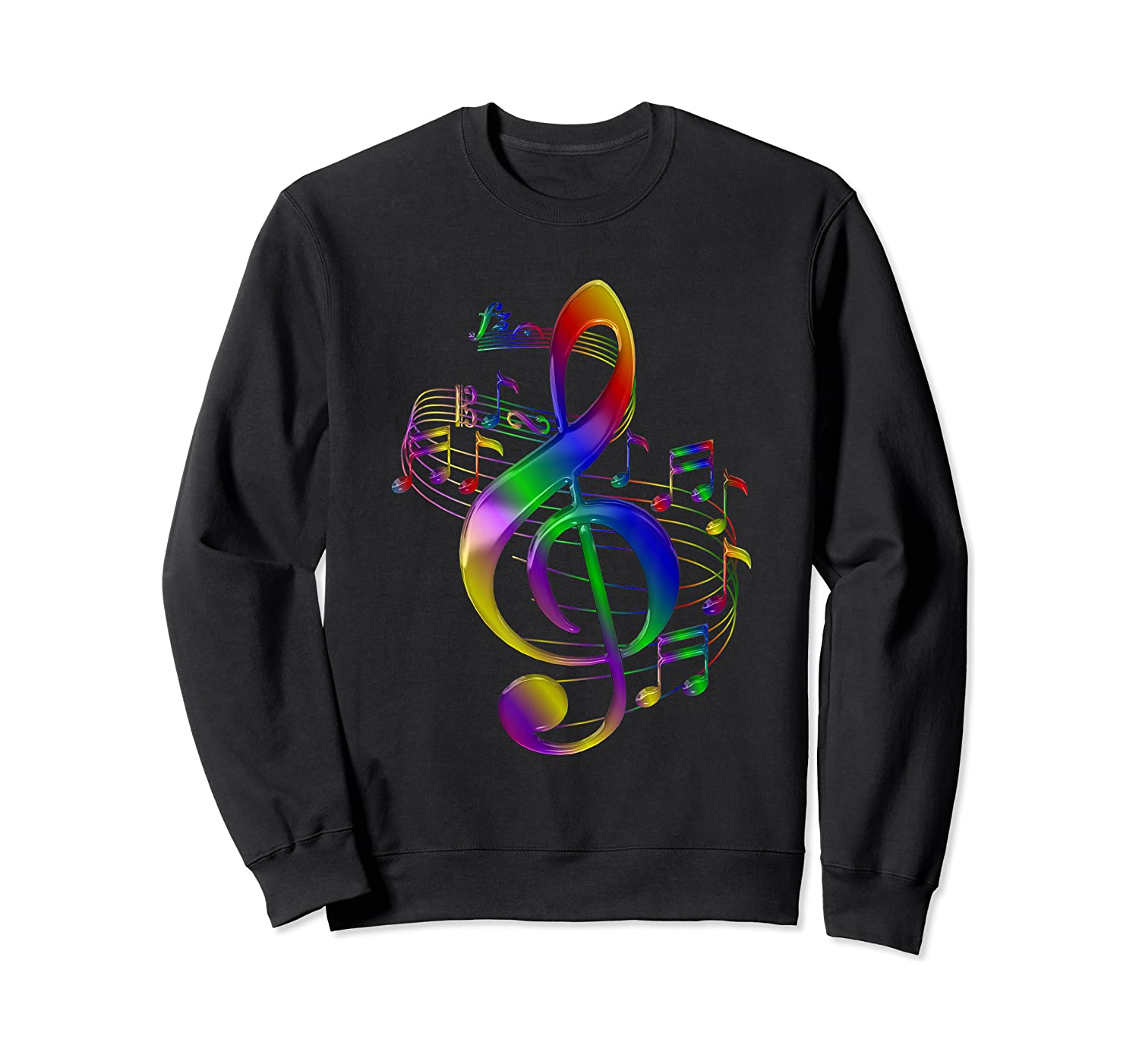 Treble Clef With Music Notes Shirts Crewneck Sweater