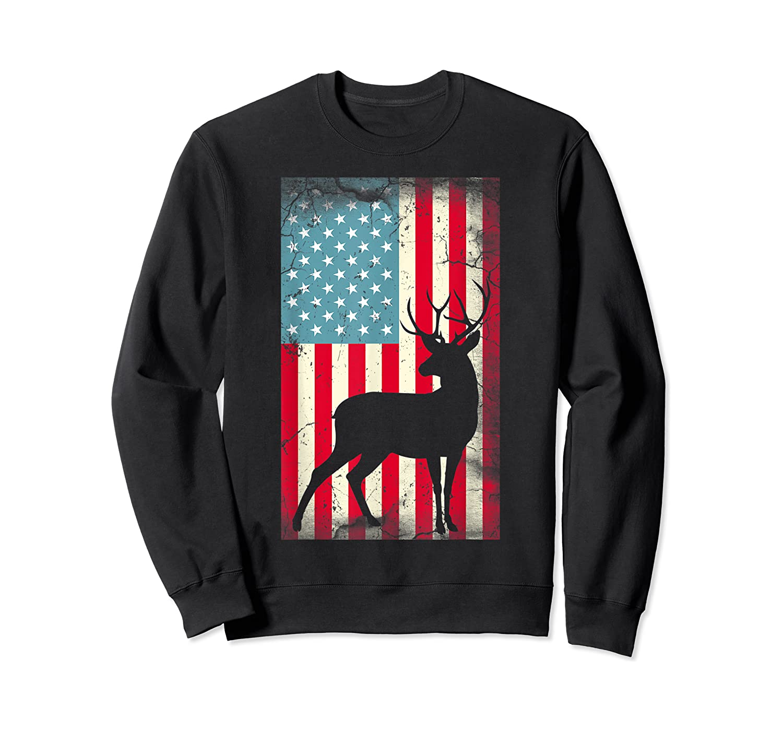 American Flag Deer Hunter, Patriotic Gift Idea For T-shirt Crewneck Sweater