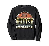 July 2004 Limited Edition 16th Birthday 16 Year Old Gift Shirts Sweatshirt Black