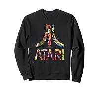 Atari Montage Logo Arms Shirts Sweatshirt Black