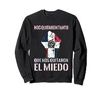Dominican Republic Flag Fist Dominican Election 2020 Protest T-shirt Sweatshirt Black