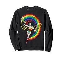 Wonder Woman Rainbow Love Shirts Sweatshirt Black
