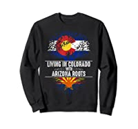 Colorado Home Arizona Roots State Tree Flag Love Gift Shirts Sweatshirt Black