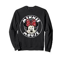 Circle Minnie Shirts Sweatshirt Black