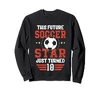 10th Birthday Soccer Birthday Boy Shirts Sweatshirt Black