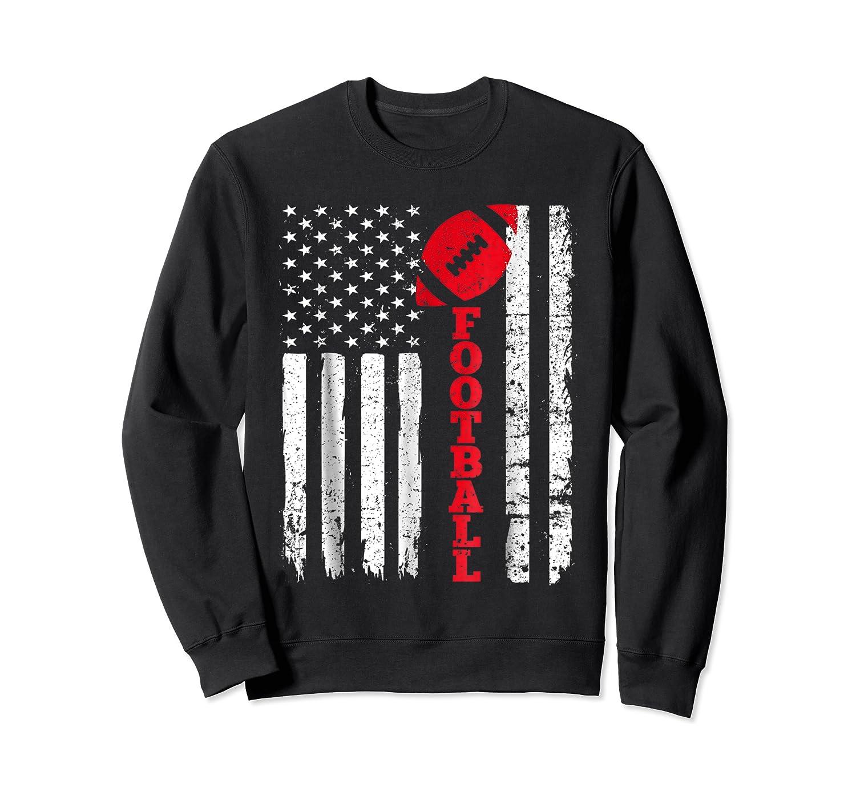 Football Shirt: Usa American Flag Sport Team Fan T-shirt Crewneck Sweater