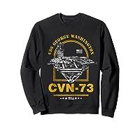 Cvn-73 Uss George Washington Zip Shirts Sweatshirt Black