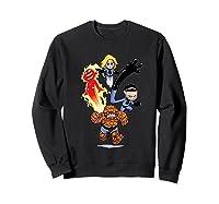 Fantastic Four Shirts Sweatshirt Black