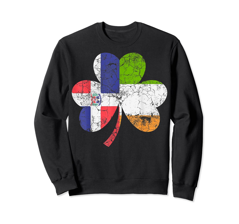 Irish Dominican Flag Ireland Shamrock St Patricks Day Shirts Crewneck Sweater