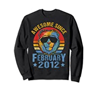 Lion 2012 Awesome February 8th Birthday Gifts King T-shirt Sweatshirt Black