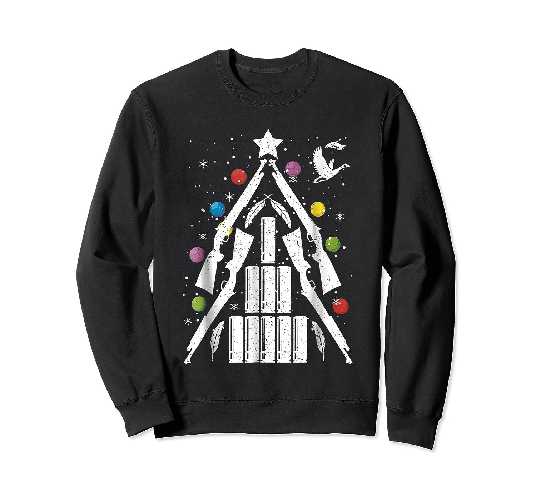 Shotgun Christmas Tree For Duck Hunters Shirts Crewneck Sweater