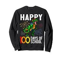 100 Days Of School Dinosaur T Rex Pencil Backpack Gift Shirts Sweatshirt Black