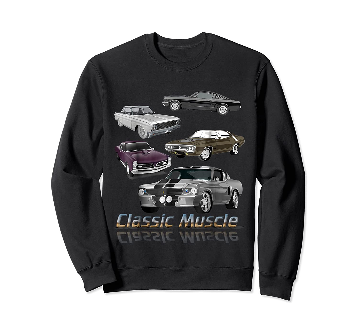 Classic American Muscle Cars Vintage Gift Shirts Crewneck Sweater