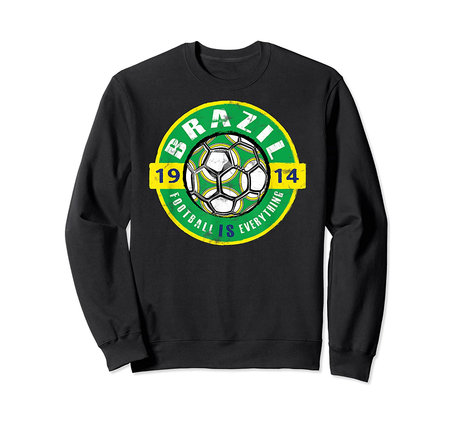 Football Is Everything - Brazil Vintage T-shirt Crewneck Sweater