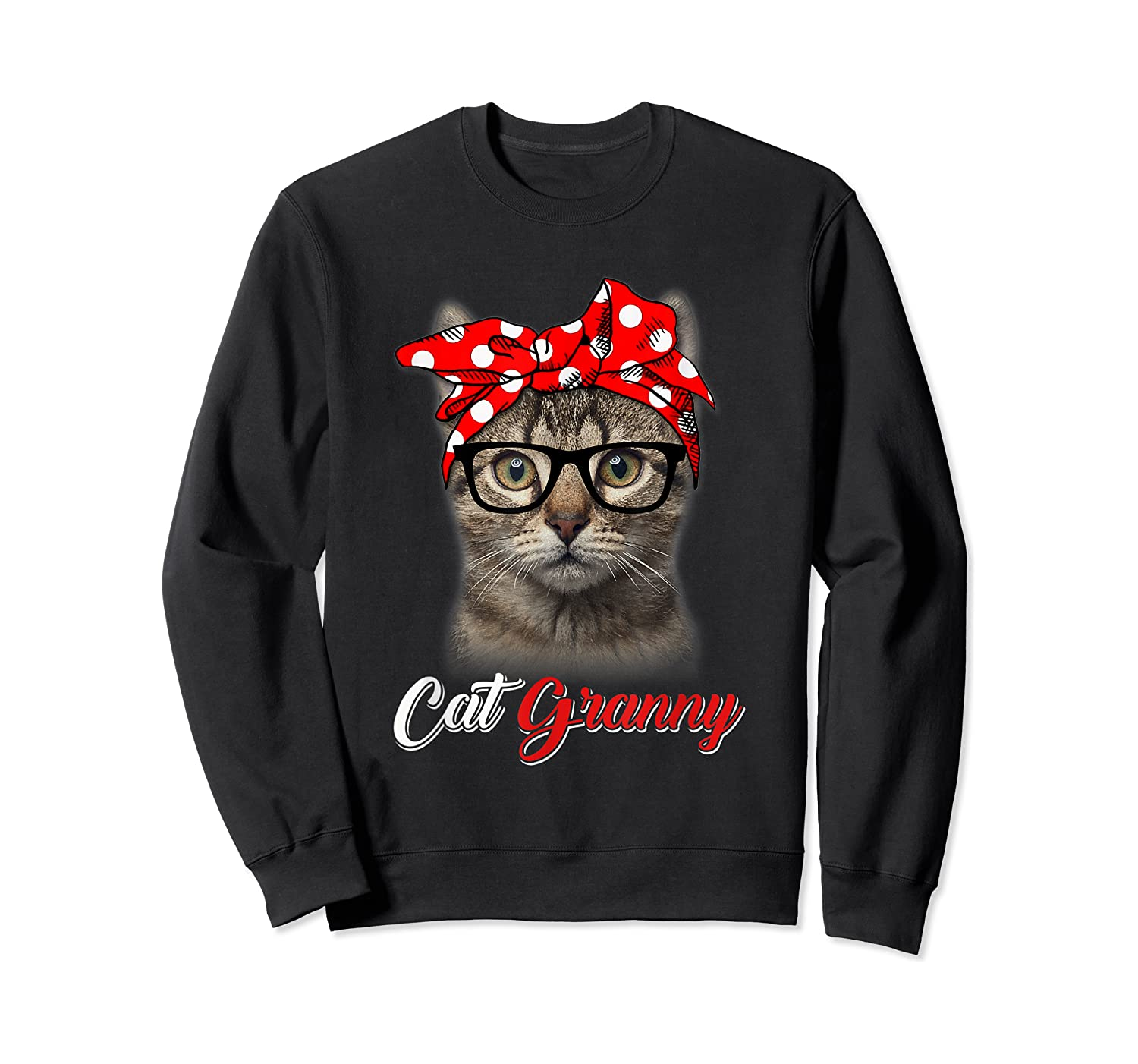 Funny Cat Granny Shirt For Cat Lovers-mothers Day Gift Crewneck Sweater