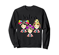 Hmong Dolls Sisters Forever T-shirt Sweatshirt Black