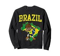 Brazil Soccer Boy Brazilian Football Dabbing Shirts Sweatshirt Black