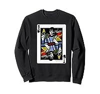 Star Trek Original Series Spock Playing Card Shirts Sweatshirt Black