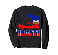 Vintage Haitian Flag I Love Haiti Shirts Sweatshirt Black