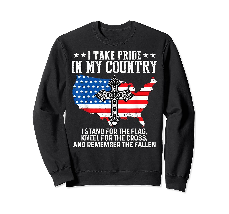 Take Pride N My Country Usa Flag 4th July Patriotic Shirts Crewneck Sweater