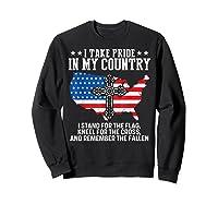 Take Pride N My Country Usa Flag 4th July Patriotic Shirts Sweatshirt Black