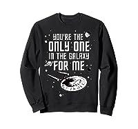 Star Trek Only One For Me Valentine's Day Graphic Shirts Sweatshirt Black