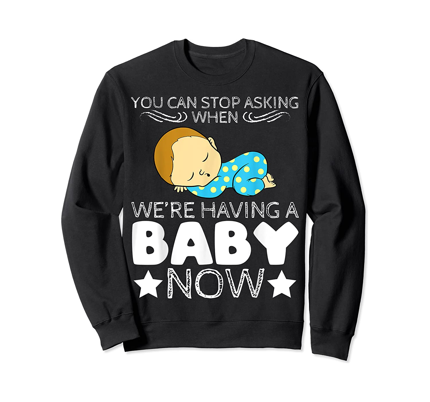 Baby Family Pregnant Mother Daughter Son Design Having Baby Shirts Crewneck Sweater