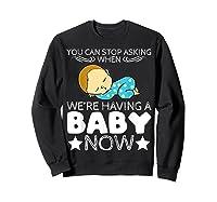 Baby Family Pregnant Mother Daughter Son Design Having Baby Shirts Sweatshirt Black
