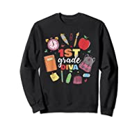 1st Grade Diva Girls First Day Of School Shirts Sweatshirt Black