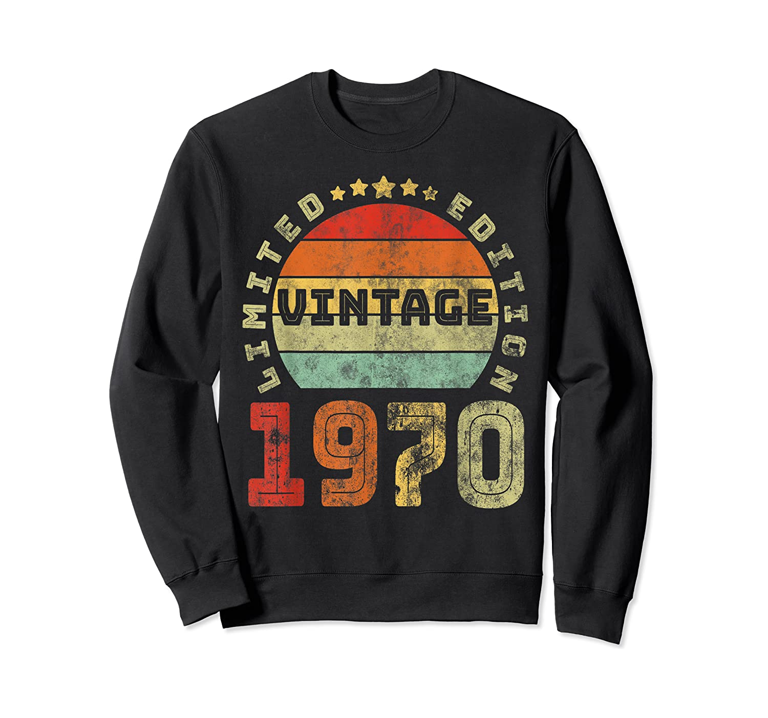 50th Birthday Gifts Retro Vintage 1970 Limited Edition T-shirt Crewneck Sweater