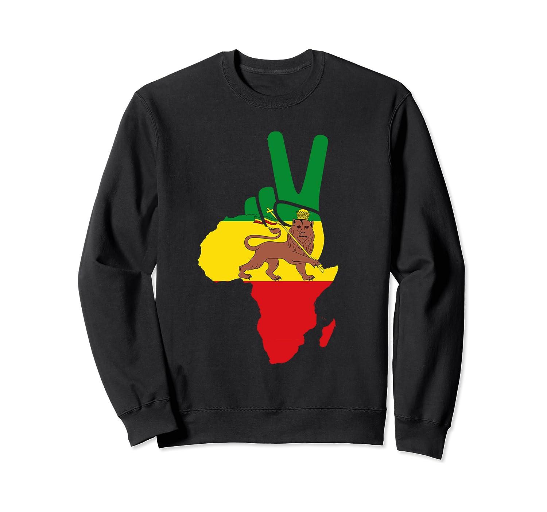 Africa Peace Ethiopian Rastafari Lion Judah Rasta Reggae Sweatshirt