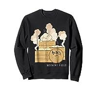 Pixar Bao Weekend Woodblock Feels Graphic Shirts Sweatshirt Black