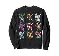 Funny Pug Halloween Pug Pumpkin Dabbing Pug Unicorn Witch Shirts Sweatshirt Black