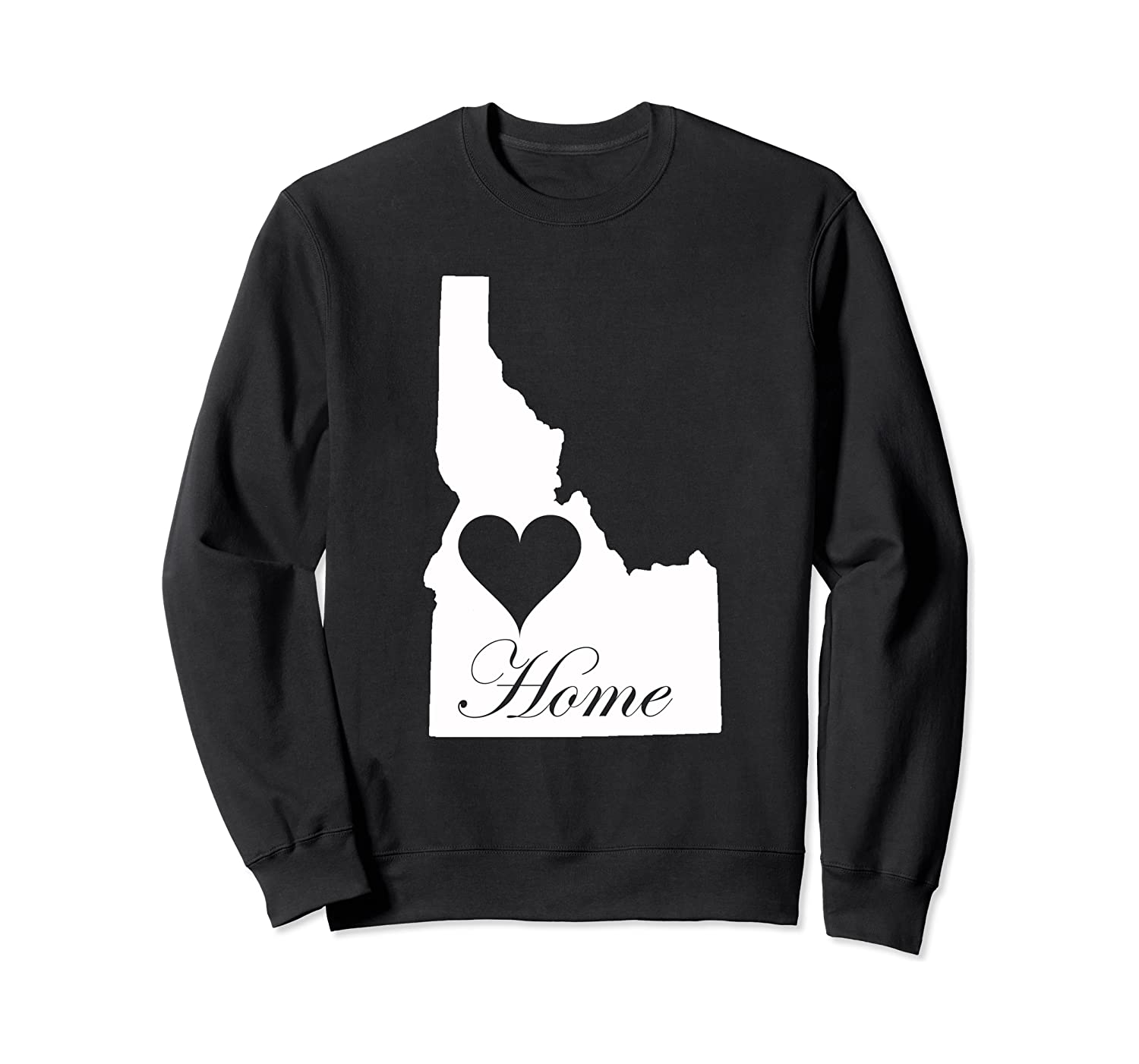 #Idahocheck Idahoan Potatoes Map State of Idaho Home Sweatshirt