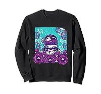 Astronaut Flowers Daisy Bubble Ocean Shirts Sweatshirt Black