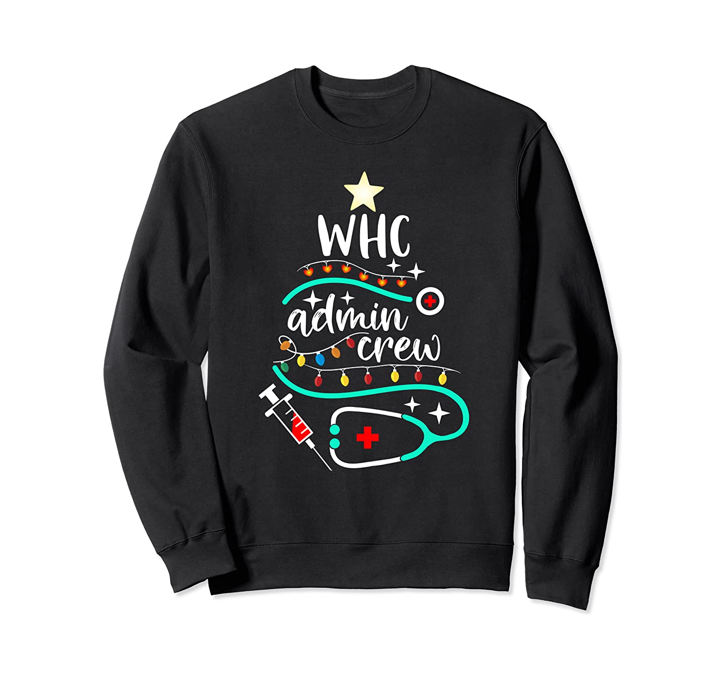 Women's Health Clinic – Cute Christmas tree WHC Admin Crew Sweatshirt