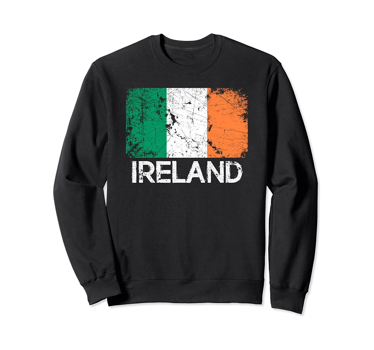 Irish Flag Sweatshirt Vintage Made In Ireland Gift