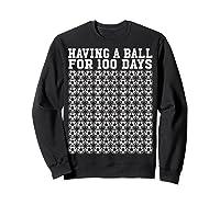 Soccer Ball 100 Days Of School Shirt Player Tea Boy Gift Sweatshirt Black