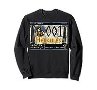 Disney Hercules Grecian Marathon Poster T-shirt Sweatshirt Black