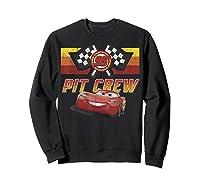 Disney Pixar Cars Mcqueen Pit Crew Red Distressed T-shirt T-shirt Sweatshirt Black
